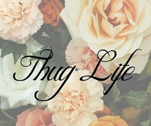 flowers, life, and thug image