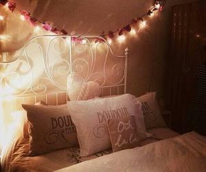 room, bedroom, and lights image