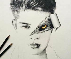 black&white, drawing, and Francisco Lachowski image