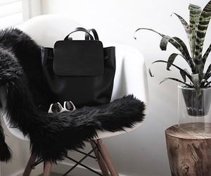 bag, black, and plants image
