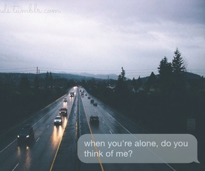alone, think, and me image