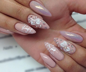 classy, love letter, and trendy nails image
