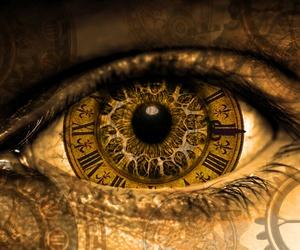 clock, eye, and eyes image
