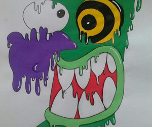 drawing, art, and courage the cowardly dog image