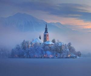 slovenia, winter, and snow image