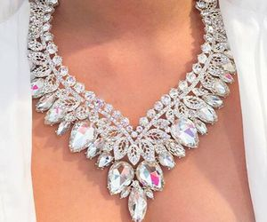 necklace, luxury, and diamond image