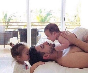 baby, family time, and kiss image
