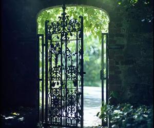 gate, door, and garden image