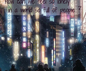 anime, lonely, and night image