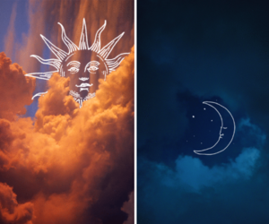 clouds and night image