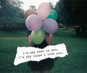 balloons, love, and shy image
