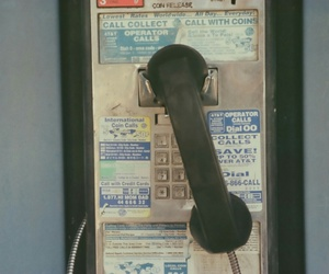 phone, vintage, and grunge image