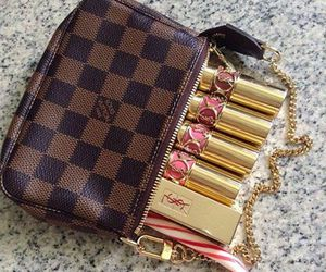 lipstick, fashion, and Louis Vuitton image