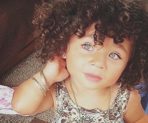 baby, kids, and curly hair image