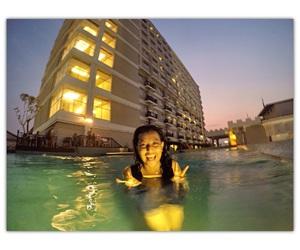 swim, swimmingpool, and jogja image