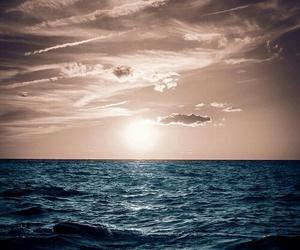 sea, blue, and sky image