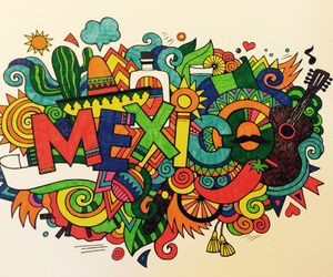 art, colorfull, and mexico image