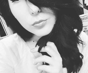 blackandwhite, idek, and selfie image