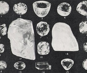 diamond, crystal, and black and white image