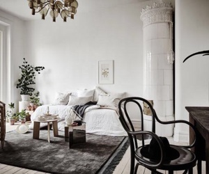 interior, white, and apartment image