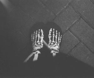 feet, skeleton, and skull image