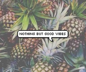 good vibes, pineapple, and summer image