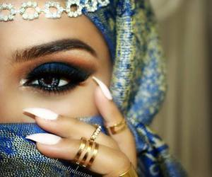 rings, eyes, and makeup image