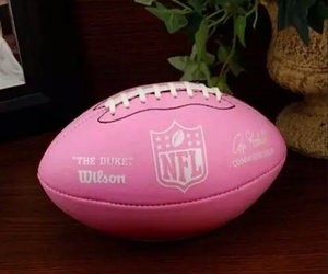 pink, football, and NFL image