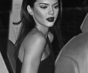 black and white, female, and kendall jenner image