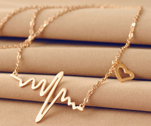 gold, accessories, and heart image