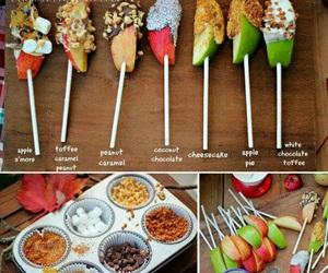 apple, chocolate, and lollipop image