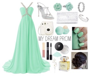 dress, mint, and Prom image