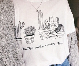 fashion, plants, and shirt image