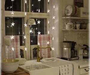 kitchen, stars, and decor image