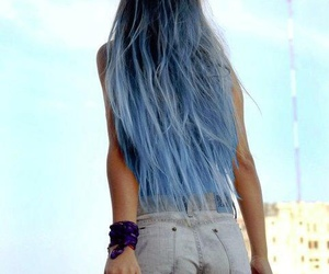 blue, hair, and hands image