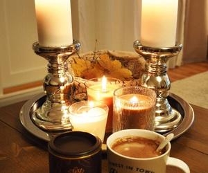 autumn, beautiful, and candle image
