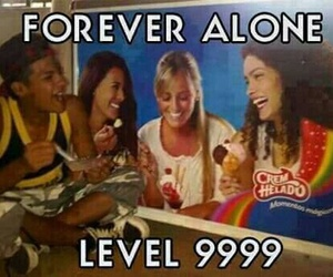 funny, forever alone, and alone image