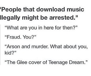 funny, glee, and music image