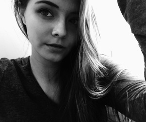 black and white, happy, and makeup image