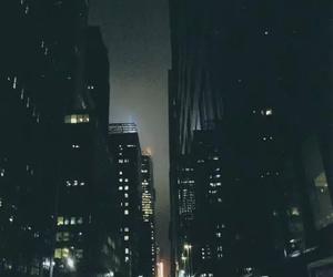 city, dark, and skyscraper image