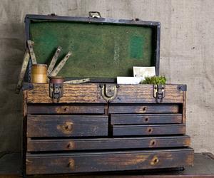 box, storage, and vintage image
