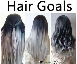 hair, goals, and black image