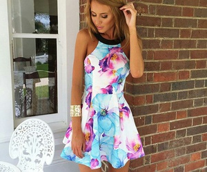 dress, summer, and girl image
