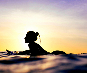 ocean, surf, and surfer image