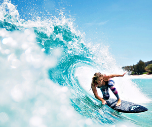 surf, girl, and surfing image