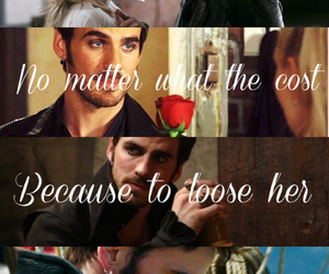 captain swan, hook, and love image