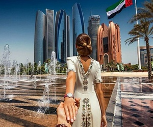 abu dhabi, travel, and style image
