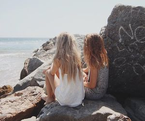 beach, clothes, and friendship image