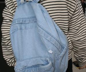 grunge, backpack, and denim image