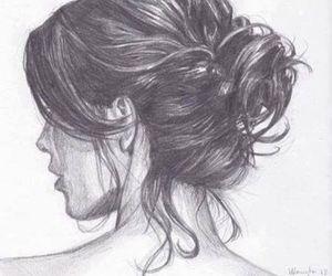 bun, hair, and messy image